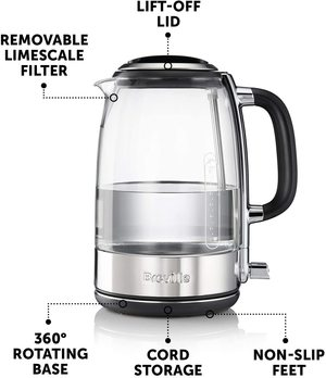 Breville VKT071 Glass Kettle's main features.