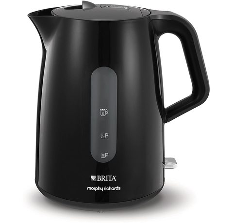Side view of the Morphy Richards Brita Filter Kettle.