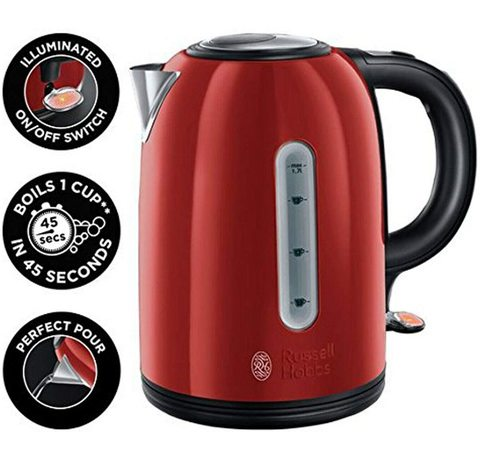 Russell Hobbs 20445 Westminster Kettle in red.