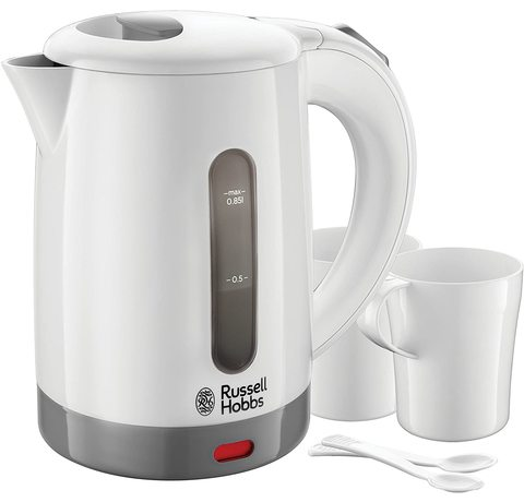 Main view of the Russell Hobbs 23840 Compact Travel Electric Kettle.